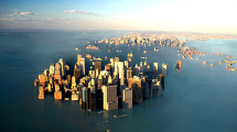 New York under water, climate change, flooded city